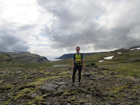 Og þá opnaðist okkur sýn út á Breiðafjörð. (Ljósm. Sonja Sif).