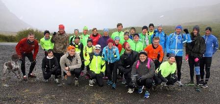 Við upphaf ferðarinnar sem aldrei var farin (nema af 6 ofurhetjum) yfir Leggjabrjót 24. maí 2014. (Ljósm. Ólafur Gunnar Sæmundsson).