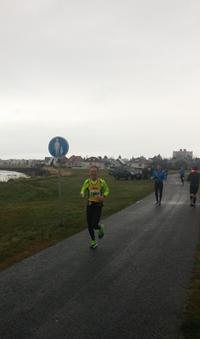 Á Ægissíðunni eftir 32 km. (Ljósm. Þorkell).